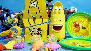 Tobot Pororo Larva toys 뽀롱뽀롱 뽀로로 낚시놀이 라바 캐치볼 과자박스 또봇 헬로카봇 장난감 Pororo Larva snack & toys