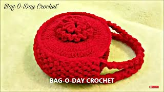 getlinkyoutube.com-CROCHET How to #Crochet Flower Handbag Purse #TUTORIAL #120