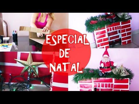 COMO FAZER MINI CHAMINÉ DECORATIVA - ESPECIAL DE NATAL #PART1