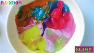 getlinkyoutube.com-DIY Giant Rainbow Slime How To Make non-toxic Slime Gigante
