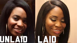 getlinkyoutube.com-How to lay your wig with UNRELAXED EDGES