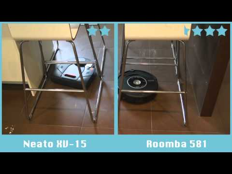 Comparativa de robots aspiradores: Neato XV-15 vs Roomba 581