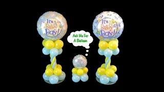 Baby Shower Balloon Centerpieces - Video Tutorial
