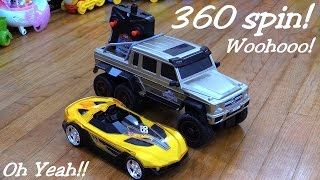 getlinkyoutube.com-Jurassic World RC Mercedes-Benz G 63 AMG 6x6 Playtime w/ Maya - 360 Spin!