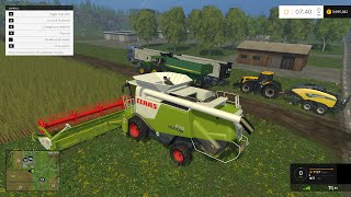 getlinkyoutube.com-Farming simulator 2015 (gameplay) CLAAS LEXION 770