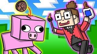 getlinkyoutube.com-Minecraft Piggy Bank DIY - Crafts for Kids at Cool School!