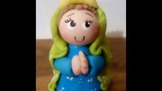Como hacer Virgencita plis paso a paso porcelana fria pasta francesa