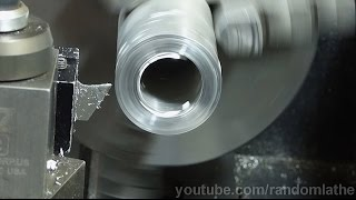 getlinkyoutube.com-7x16 Mini Lathe - Using carbide circular saw for lathe parting blades - part 1