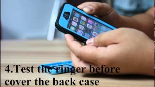 getlinkyoutube.com-Merit™ waterproof case for iPhone 5S/5 Installation instruction