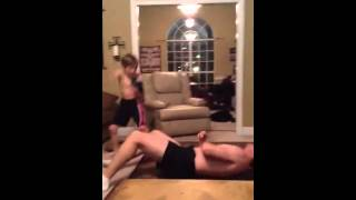 getlinkyoutube.com-My Dad and Brothers awesome wrestling match!!!!