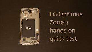 getlinkyoutube.com-LG Optimus Zone 3 (vs425) quick hands-on review