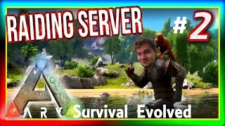 "ARK: Survival Evolved - RAIDING SERVER: Ep 2 ""First PVP Kill?"" ( Gameplay ) w/ Xylophoney"