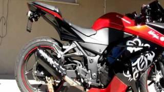 2010 Ninja 250 Two Brothers Slip-On Exhaust Comparison