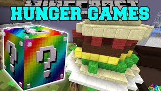 getlinkyoutube.com-Minecraft: BIGGEST SANDWICH EVER HUNGER GAMES - Lucky Block Mod - Modded Mini-Game