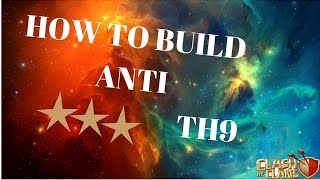 Fairy Tail - How To Build Anti 3 Stars War Base TH9