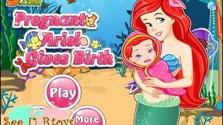 getlinkyoutube.com-♥ เกมส์ เจ้าหญิงเงือกน้อย เมอร์เมด เอเรียลคลอดลูก Pregnant Ariel mermaid Gives Birth baby♥