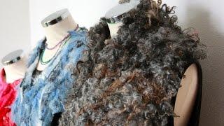 getlinkyoutube.com-Felting a curly shawl