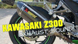 getlinkyoutube.com-Kawasaki Z300 stock and Akrapovic exhaust sound (no dB-killer)