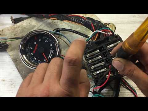 How to install wire up a tach tachometer the right way GM for beginners DIY