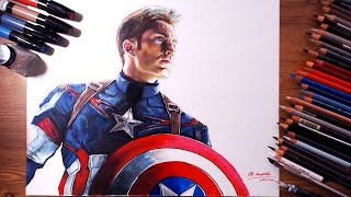 getlinkyoutube.com-Captain America, Steven Rogers (Chris Evans) - Speed drawing