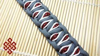 getlinkyoutube.com-How to Make a Stitched Solomon's Dragon Paracord Bracelet Tutorial