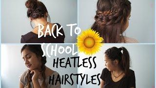 getlinkyoutube.com-Back to School HEATLESS Hairstyles ♡