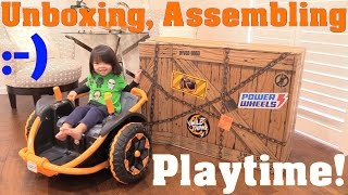 getlinkyoutube.com-Power Wheels Wild Thing! Fisher-Price 12 Volts Ride-On Toy Unboxing. Plus, Motorcycle Ride
