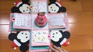 getlinkyoutube.com-樂樂手工創意 禮物盒機關卡🎁 7種機關+蛋糕 米奇micky系列