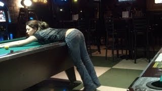 getlinkyoutube.com-Drunk Hot Chicks Playing Pool & Dancing