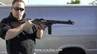 getlinkyoutube.com-Airsoft GI - Ares PPSH-41 Sub Machine Gun Blow Back AEG - Real Wood / Stamped Steel