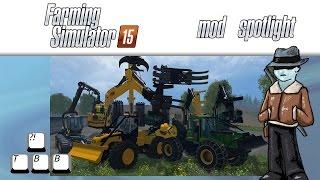 getlinkyoutube.com-Farming Simulator 15 Mod Spotlight - Forestry Pack and Skidder