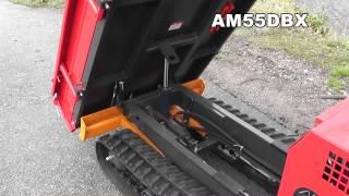 getlinkyoutube.com-ウインブルヤマグチ 除雪機 排土板付 運搬車 AM55DBX 除雪ブレード取り付け