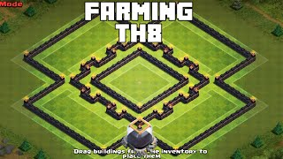 getlinkyoutube.com-Clash Of Clans - UNBEATABLE TH8 FARMING BASE 2015 [Rings]