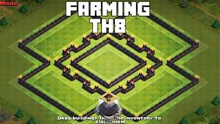 Clash Of Clans - UNBEATABLE TH8 FARMING BASE 2015 [Rings]
