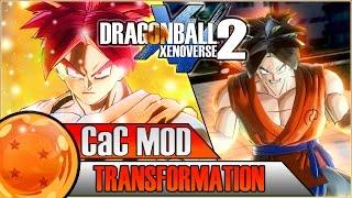 getlinkyoutube.com-SUPER SAIYAN GOD CAC TRANSFORMATION   Dragon Ball Xenoverse 2 MOD