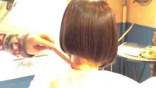 getlinkyoutube.com-《Bob Hair》大人ショートボブ・簡単なボブの切り方教えます!・みんなと違うアシンメトリーボブ