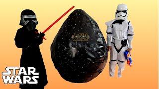 getlinkyoutube.com-GIANT EGG SURPRISE Opening Star Wars Episode 7 The Force Awakens Movie Toys Star Wars VII Movie Toys