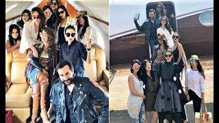 Kareena Kapoor, Amrita Arora, Malaika Arora Khan, Karisma Kapoor Inside Private Plane