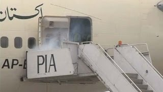 getlinkyoutube.com-Dunya News-How Lahore airport rescues aircraft engulfed in fire
