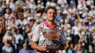 getlinkyoutube.com-Stanislas Wawrinka vs Novak Djokovic CEREMONY HD Roland Garros 2015 Final
