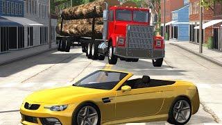 getlinkyoutube.com-BeamNG Drive Realistic High Speed Crashes #1