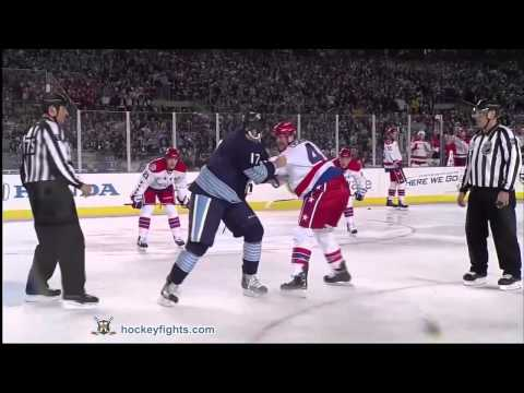 John Erskine vs Michael Rupp Jan 1, 2011 Winter Classic Fight