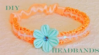 getlinkyoutube.com-DIY  flores en diademas tejidas con los dedos - flowers in woven headbands with fingers
