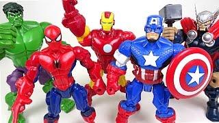 Marvel-Mashers-Hulk-Spider-Man-Captain-America-Iron-Man-Thors-body-have-changed-DuDuPopTOY width=