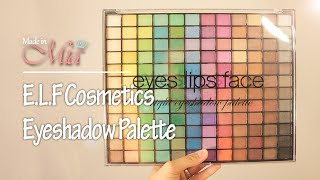 getlinkyoutube.com-E.L.F. Cosmetics 144 Eyeshadow Palette elf 아이섀도우 팔레트 by.Mia