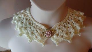 getlinkyoutube.com-CROCHET How to #Crochet Victorian Style Collar Necklace #TUTORIAL #226