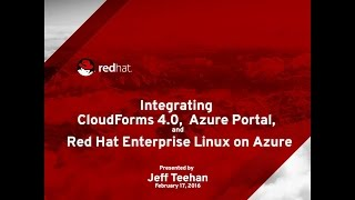 Red Hat Enterprise Linux on Azure with CloudForms