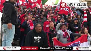 Sector Latino Chicago Fire vs Portland Timbers