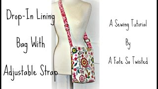 getlinkyoutube.com-How To Make A Drop Lining Bag with Adjustable Strap
