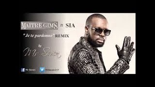 JE TE PARDONNE - MAITRE GIMS FEAT SIA  karaoke version ( no vocal ) lyric